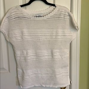 White Cable knitted sweater